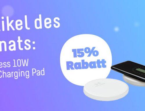 Artikel des Monats: Wireless 10W Fast Charging Pad Schnellladegerät
